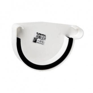 Заглушка ринви права Profil Р 130 мм біла