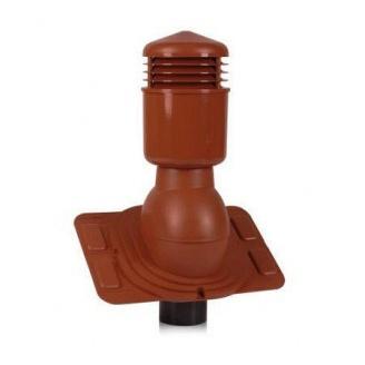 Вентиляционный выход Wirplast Universal К26-4 110*495 мм красный