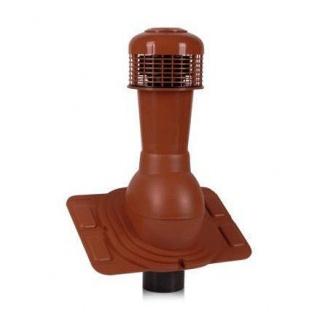 Вентиляционный выход Wirplast Universal К44-4 110*495 мм красный