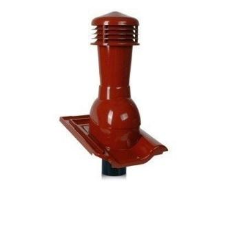 Вентиляционный выход Wirplast Tile К57-4 110*495 мм красный