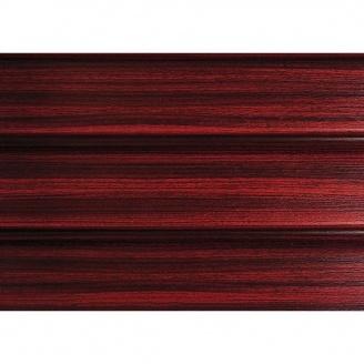 Панель софіт ASKO без перфорації 3,5 м червоне дерево тик