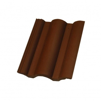 Цементно-песчаная черепица Terran Данубиа ColorSystem коричневая