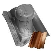 Круглий неутеплений вентиляційний елемент Terran Коппо 110 мм феррара