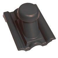 Круглый неутепленный вентиляционный элемент Terran Данубиа 110 мм карбон