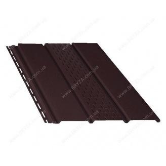 Софит BRYZA перфорированный 4000х305 мм коричневый