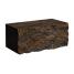 Камень для забора Золотой Мандарин двухсторонний скол 350х180х150 мм персиково-коричневый
