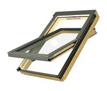 Мансардное окно FAKRO FTP-V U3 Electro вращательное с электроуправлением 94x118 см