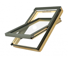 Мансардное окно FAKRO FTP-V U3 Electro вращательное с электроуправлением 114x118 см