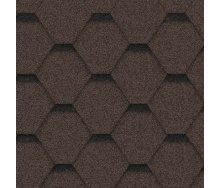 Битумная черепица Icopal Gonty OrlaТрапеция 1000*317 мм коричневый с тенью
