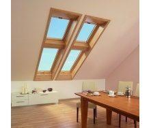 Мансардное окно Roto Designo R75 KG WD 54*78 см золотой дуб