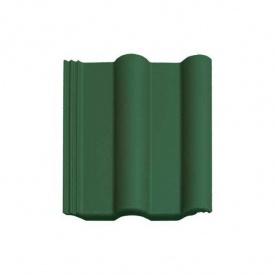 Цементно-песчаная черепица Vortex Венецианская рядовая 330*420 мм зеленая матовая