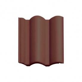 Цементно-песчаная черепица Vortex Венецианская рядовая 330*420 мм коричнево-каштановая глянцевая