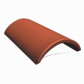 Коньковая черепица Vortex 250*420 мм кирпичная глянцевая