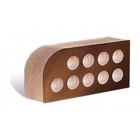 Облицовочный кирпич Литос Фасонный Малый Полукруг Гладкий пустотелый 250x120x65 мм шоколад