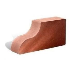 Облицовочный кирпич Литос Фасонный Карнизный Гладкий полнотелый 250x120x65 мм красный