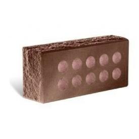 Облицювальна цегла Літос Колота тичкова пустотіла з фаскою 230x107x65 мм шоколад