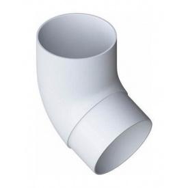 Коліно труби Альта-Профіль Еліт 67 градусів 95 мм білий