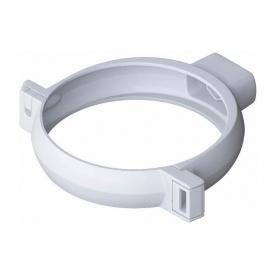 Хомут труби Альта-Профіль Еліт 95 мм білий