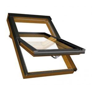 Мансардне вікно FAKRO PTP-V/GO U3 обертальне вологостійке 114x118 см