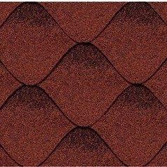 Бітумна черепиця Kerabit S Хвиля червоно-чорна