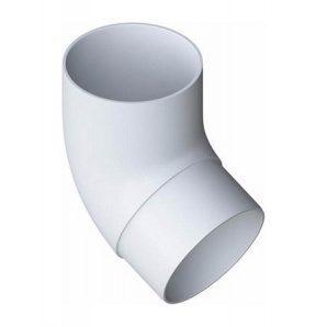 Колено трубы Альта-Профиль Элит 67 градусов 95 мм белый
