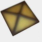 Оголовок для огорожі CRH 95 мм жовтий ангобованний