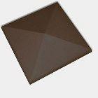 Оголовок для огорожі CRH 95 мм коричневий