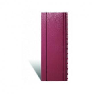 Вертикальный виниловый сайдинг Альта-Профиль Quadrohouse красный