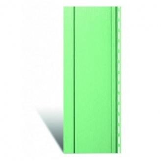 Вертикальный виниловый сайдинг Альта-Профиль Quadrohouse фисташковый