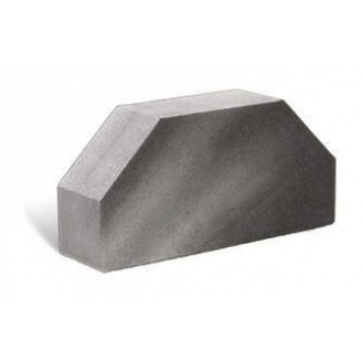 Облицовочный кирпич Литос Гладкий 2-х угловой полнотелый 250x120x65 мм серый