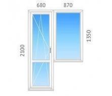 Балконный блок REHAU-60 с двухкамерным стеклопакетом