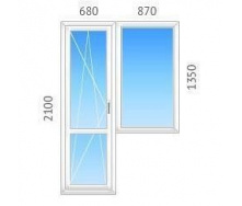 Балконный блок ALMplast с однокамерным энергосберегающим стеклопакетом