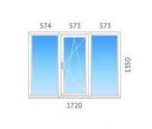 Окно 3-створчатое REHAU-60 однокамерный энергосберегающий стеклопакет