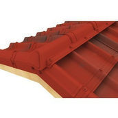 Конек модельный сборный финишный Onduvilla 1060x164 мм красный классик