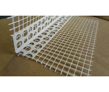 Уголок перфорированный ПВХ с сеткой из стекловолокна 10/15 см 3 м