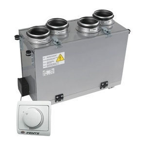 Припливно-витяжна установка VENTS ВУТ 200 В міні (РС) 200 м3/год 116 Вт