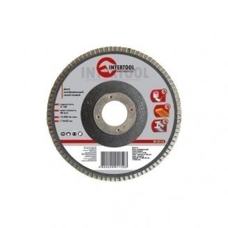 Диск шлифовальный Intertool лепестковый 22х125 мм К100 (BT-0210)