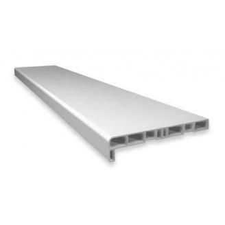 Пластиковый подоконник Openteck (сатин) 100 мм белый