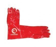 Перчатки маслостойкие Intertool красные (SP-0007)