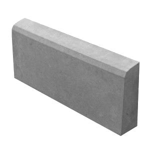 Поребрик 500х200х45 мм серый