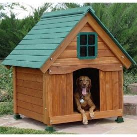 Будка деревянная для собак Фински