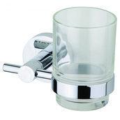 Стеклянный стакан DEVIT Aurora с держателем хром (27050SC)