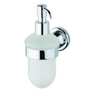 Стеклянный дозатор жидкого мыла DEVIT Retro с настенным держателем хром (8250127SD)