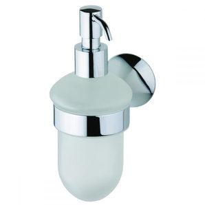 Стеклянный дозатор жидкого мыла DEVIT Vintage с настенным держателем хром (7850122SD)