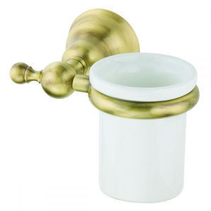 Стеклянный стакан DEVIT Charlestone с держателем бронза (4020.01HB)