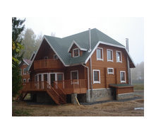 Будівництво будинку з оцилиндрованного бруса