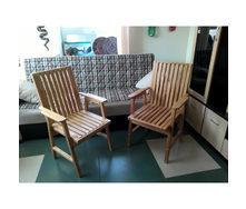 Крісло дерев'яне для дачі з сосни