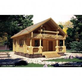 Проект D-26 деревянного дома из оцилиндрованного бревна 180 мм
