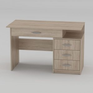 Письменный стол Компанит Студент-2 1200х600х750 мм дуб сонома