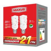 Комплект энергосберегающих ламп MAXUS 2-ESL-229-P XPiral 20W 2700K E27